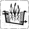 Icon horizontal subsurface flow constructed wetland.png